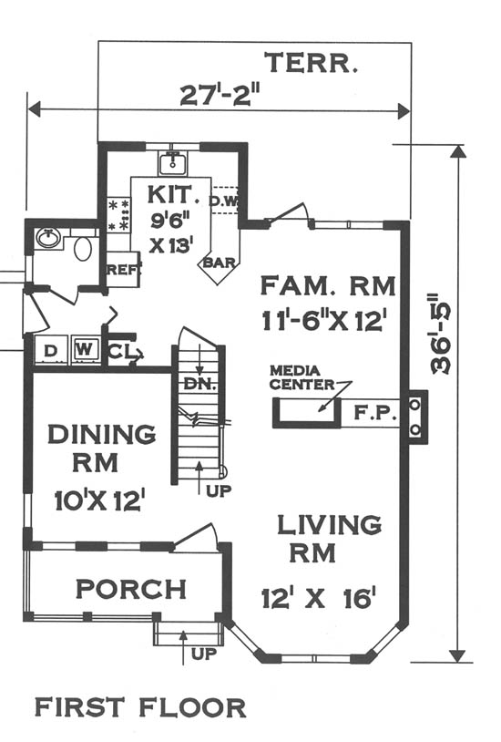 first floor image of Featured House Plan: BHG - 5671