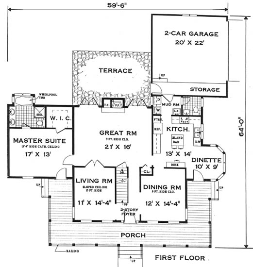 Fist Floor image of Featured House Plan: BHG - 5681