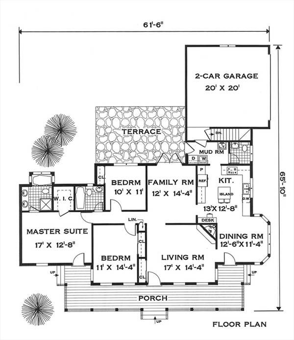 first floor image of Featured House Plan: BHG - 5632