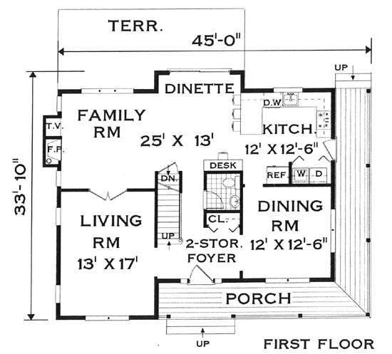 Fist Floor image of Featured House Plan: BHG - 5683