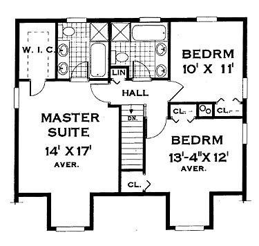 second floor image of Featured House Plan: BHG - 7005