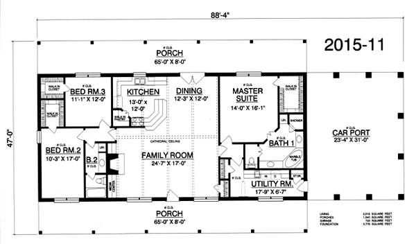 Floor Plan image of Featured House Plan: BHG - 2388