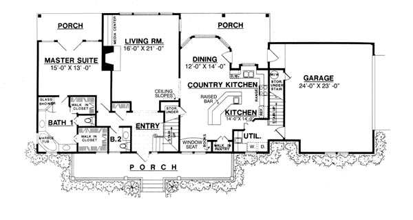 First Floor image of Featured House Plan: BHG - 8205