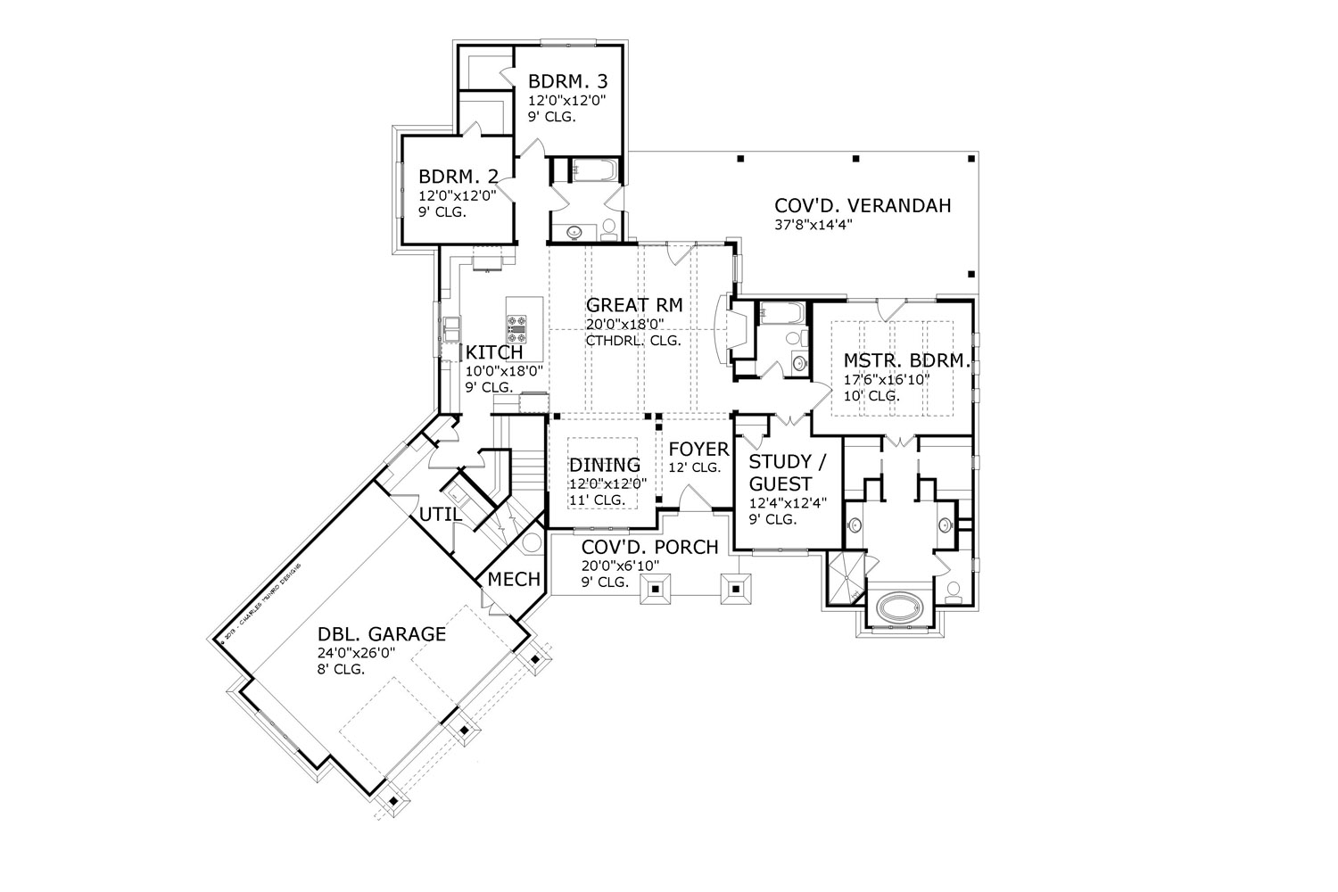 Main Floor Plan image of Featured House Plan: BHG - 5216