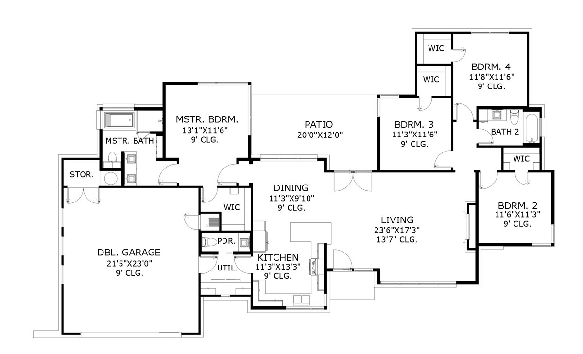Floor Plan image of Featured House Plan: BHG - 6274