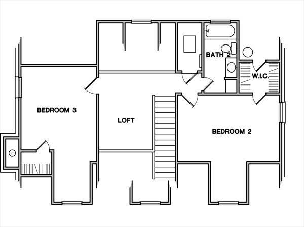 Second Floor Plan image of Featured House Plan: BHG - 3083
