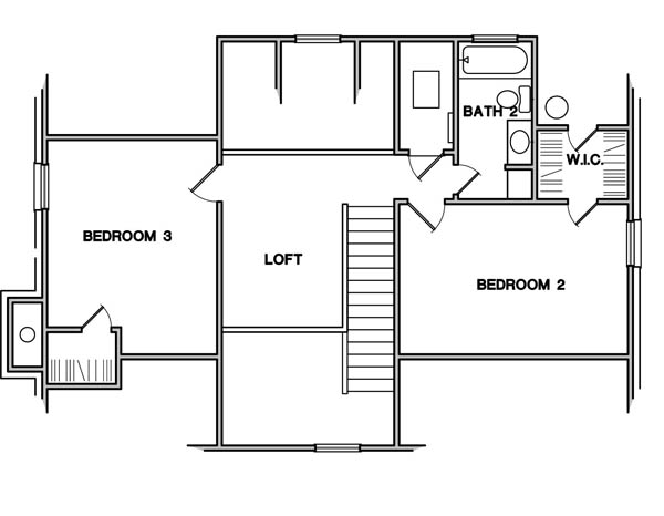 Second Floor Plan image of Featured House Plan: BHG - 3089