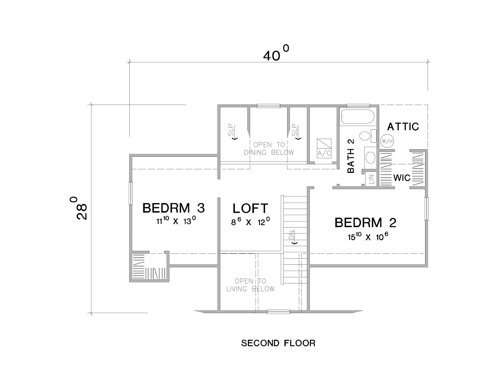 2nd Floor Plan image of Featured House Plan: BHG - 3089