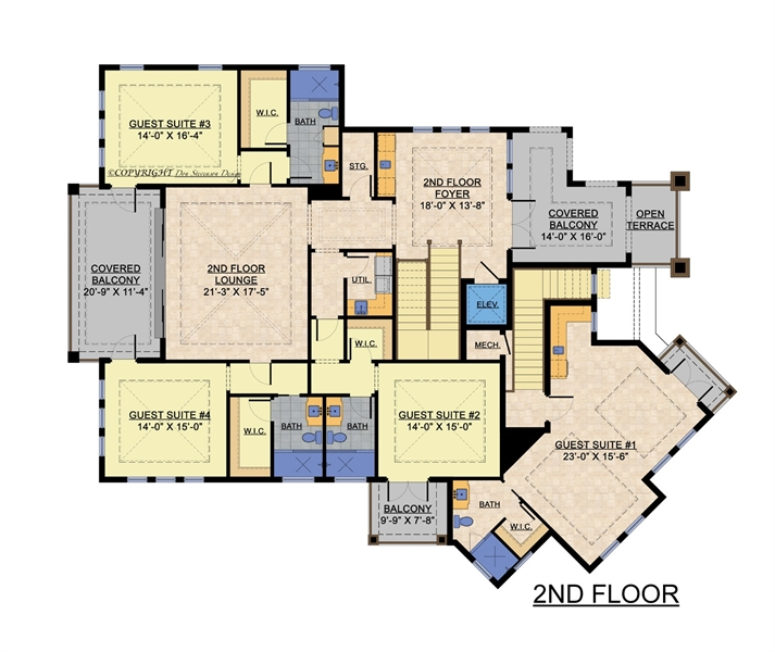 2nd Floor Plan image of Featured House Plan: BHG - 1817