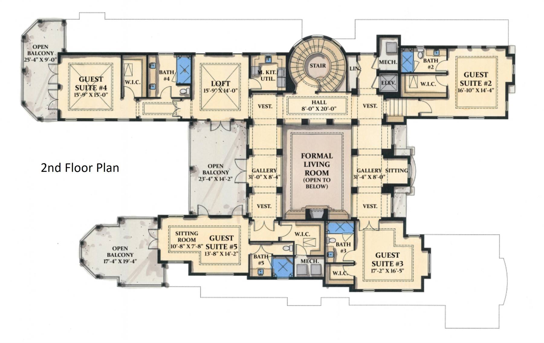 2nd Floor Plan image of Featured House Plan: BHG - 7275