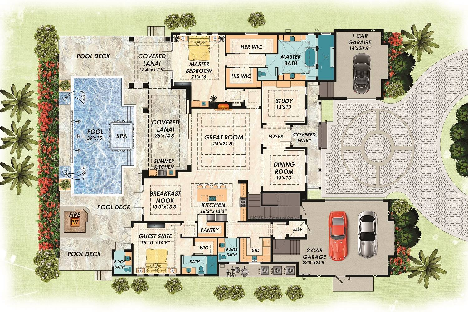 1st Floor Plan image of Featured House Plan: BHG - 7278