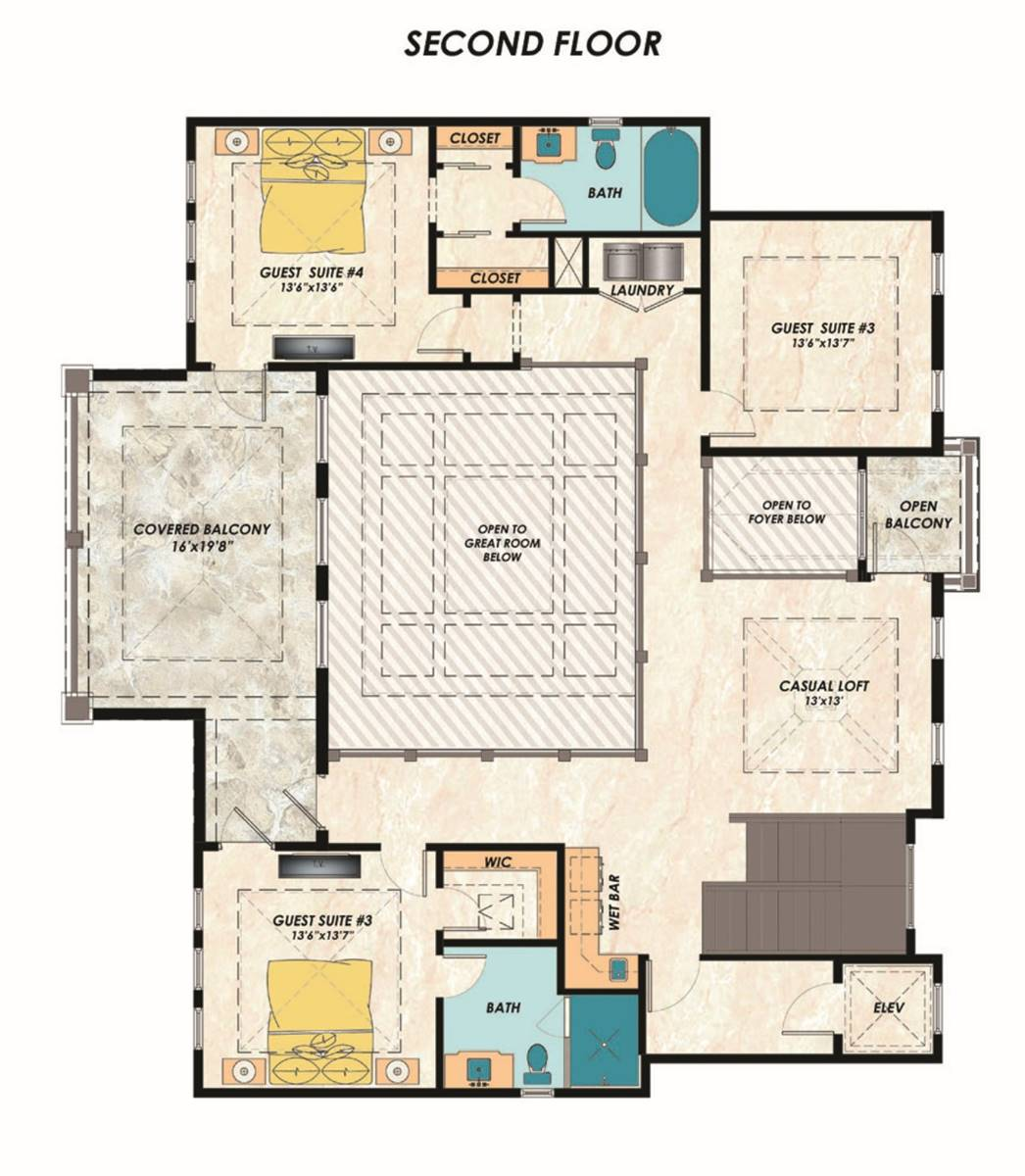 2nd Floor Plan image of Featured House Plan: BHG - 7278