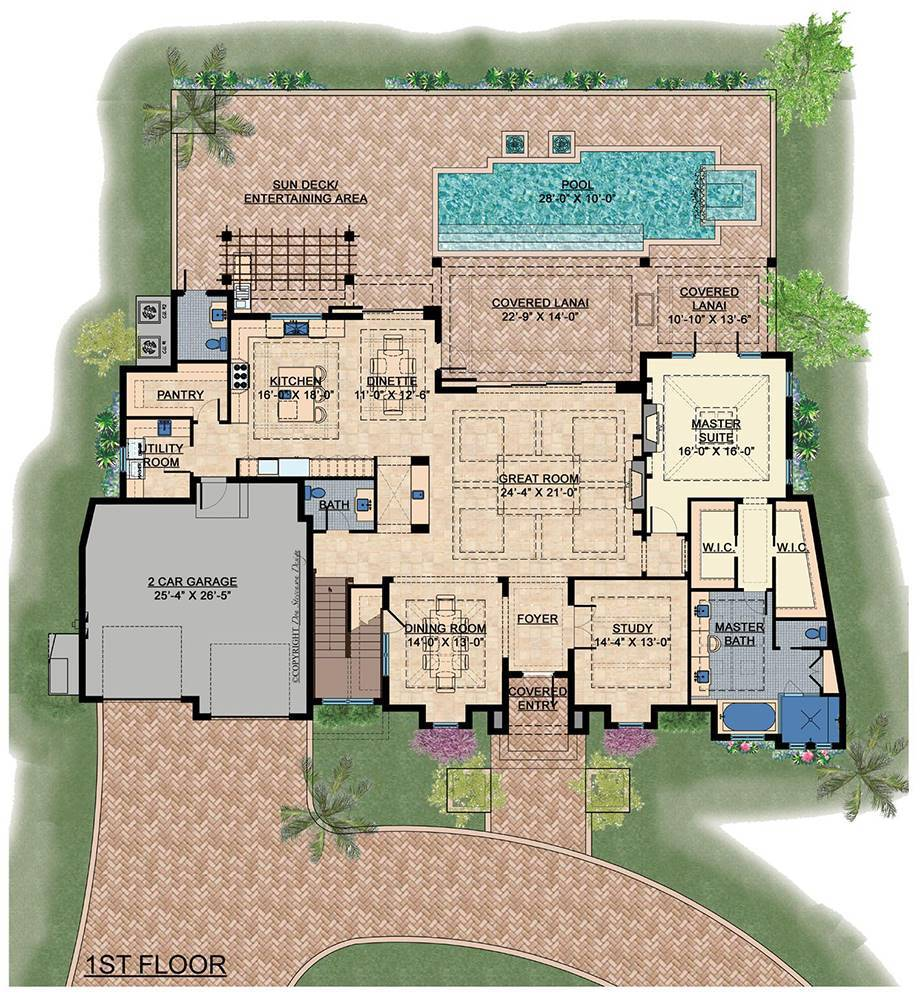 1st Floor image of Featured House Plan: BHG - 7537