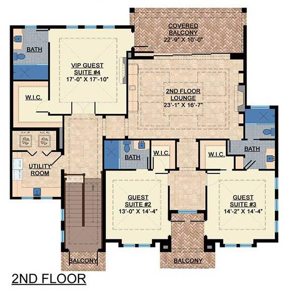 2nd Floor image of Featured House Plan: BHG - 7537