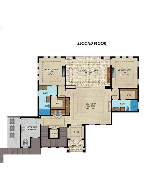 2nd Floor Plan image of Featured House Plan: BHG - 1769