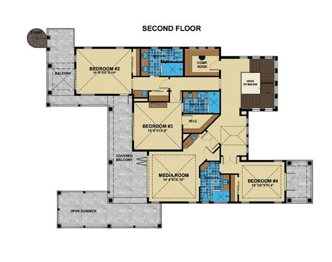 2nd Floor Plan image of Featured House Plan: BHG - 1456