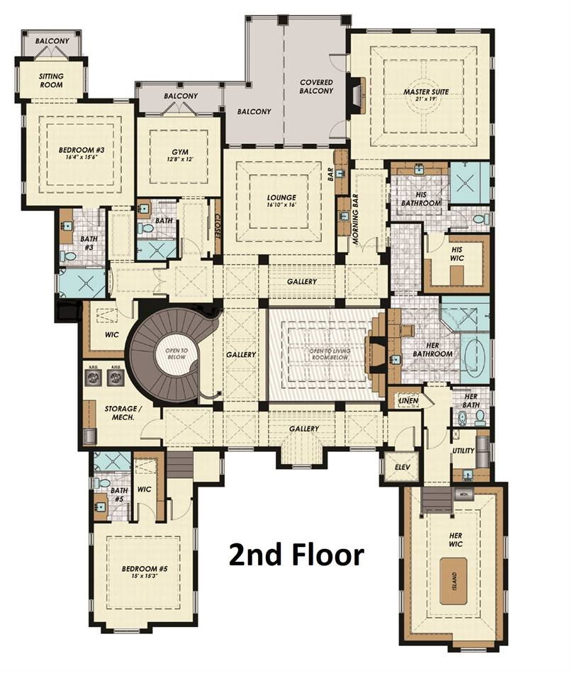 2nd Floor Plan image of Featured House Plan: BHG - 1975