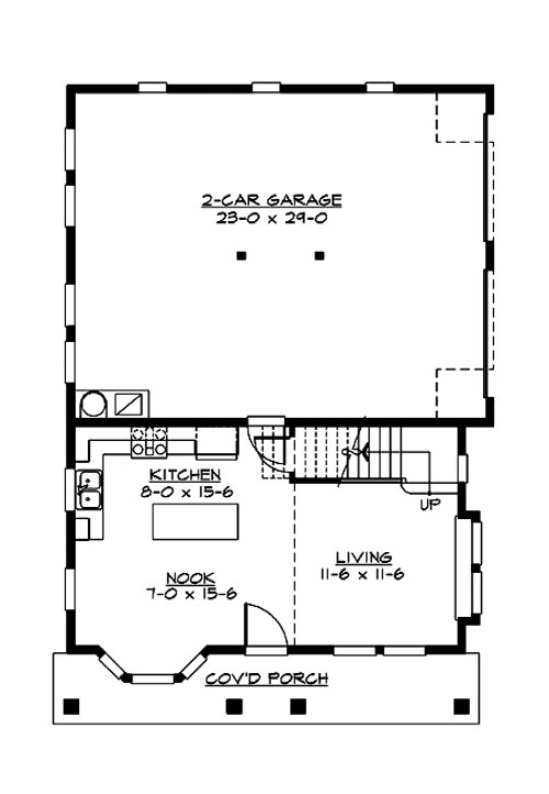 Main Floor image of Featured House Plan: BHG - 3206
