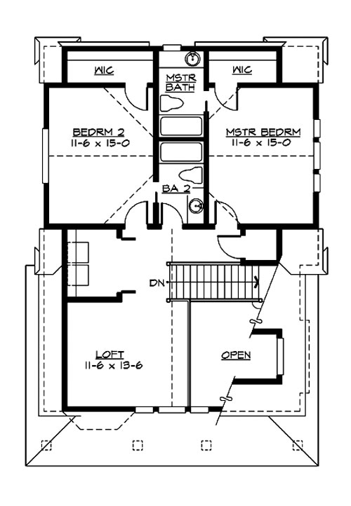 Upper Floor image of Featured House Plan: BHG - 3206