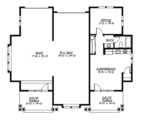 Main Floor image of Featured House Plan: BHG - 3209