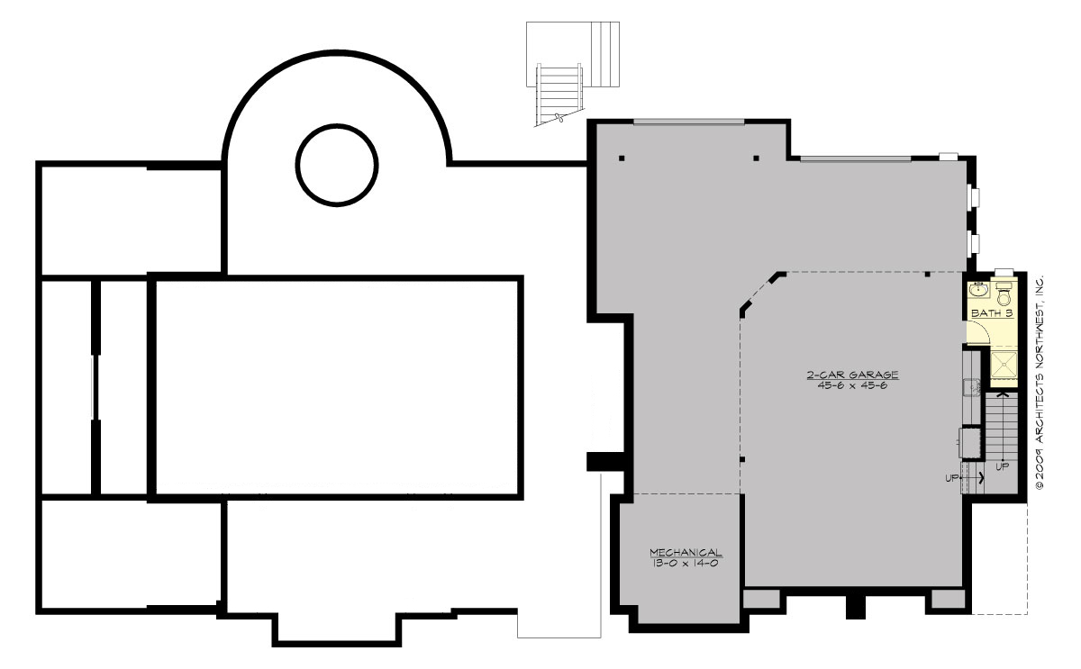 Basement Floor Plan image of Featured House Plan: BHG - 9128