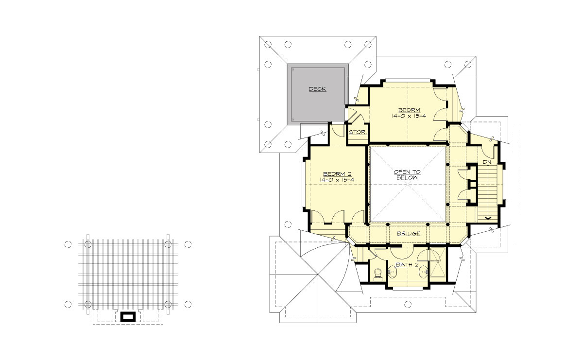 2nd Floor Plan image of Featured House Plan: BHG - 9128