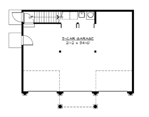 Main Floor image of Featured House Plan: BHG - 3203