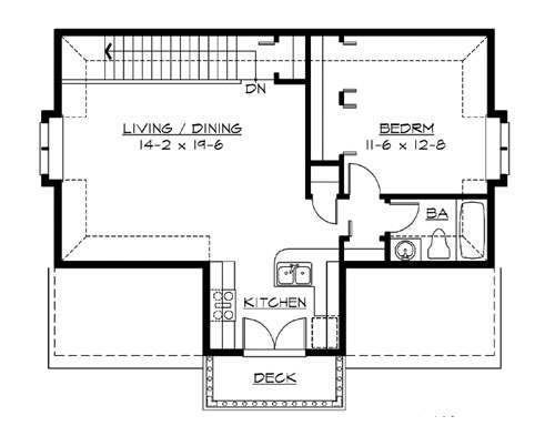 Upper Floor image of Featured House Plan: BHG - 3203