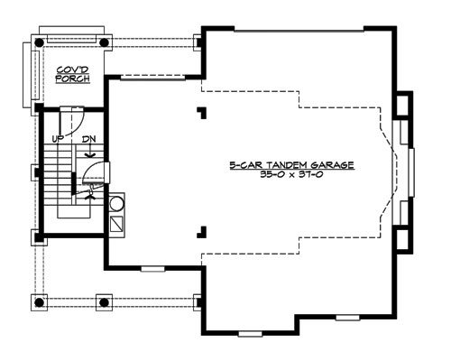Main Floor image of Featured House Plan: BHG - 3204