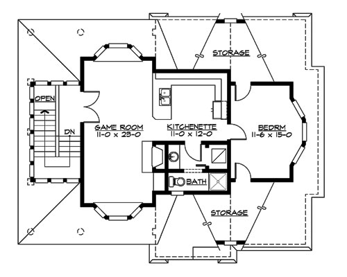 Upper Floor image of Featured House Plan: BHG - 3204