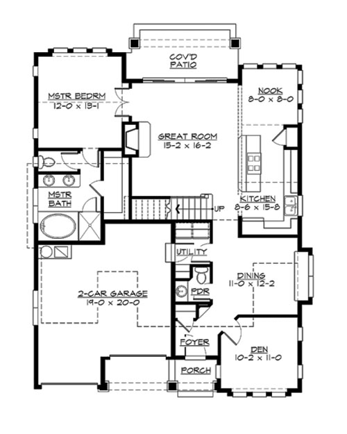 Main Floor image of Featured House Plan: BHG - 3210