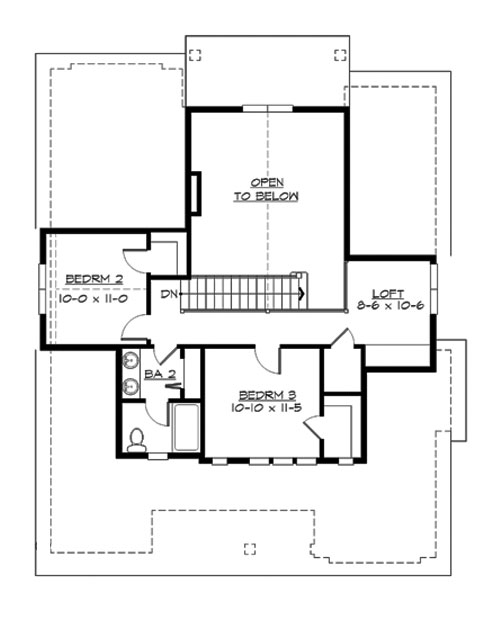 Upper Floor image of Featured House Plan: BHG - 3210