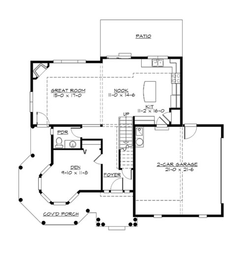 Main Floor image of Featured House Plan: BHG - 3289