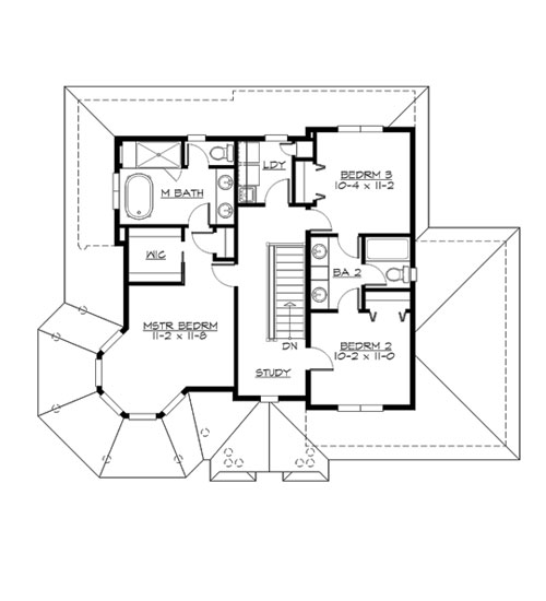 Upper Floor image of Featured House Plan: BHG - 3289