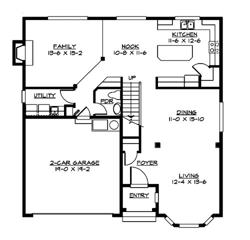 Main Floor image of Featured House Plan: BHG - 3213