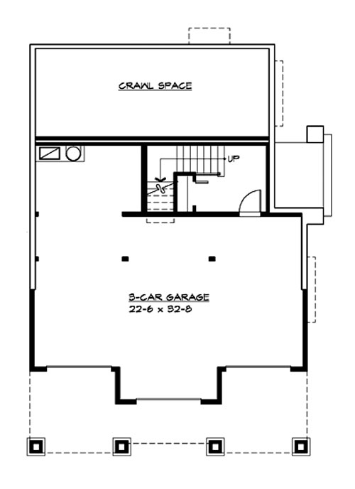Lower Floor image of Featured House Plan: BHG - 3214