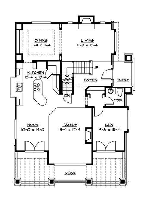 Main Floor image of Featured House Plan: BHG - 3214