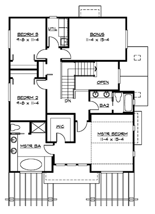 Upper Floor image of Featured House Plan: BHG - 3214