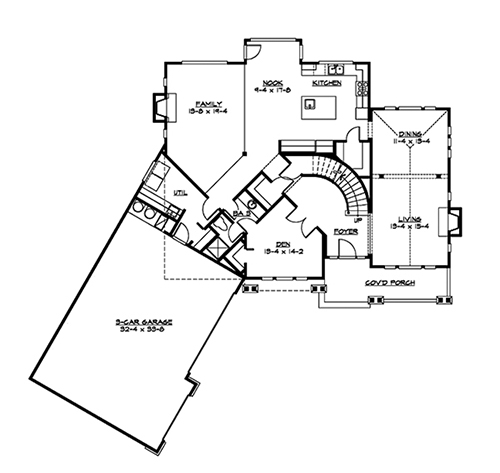 Main Floor image of Featured House Plan: BHG - 4848
