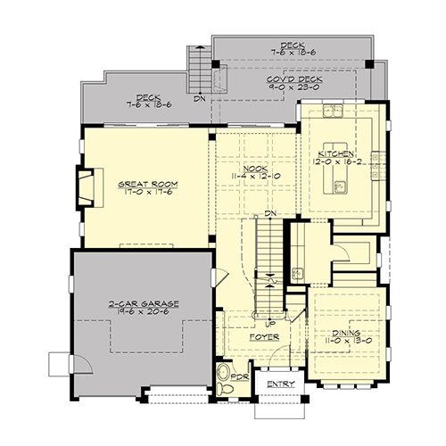 Main Floor image of Featured House Plan: BHG - 4661