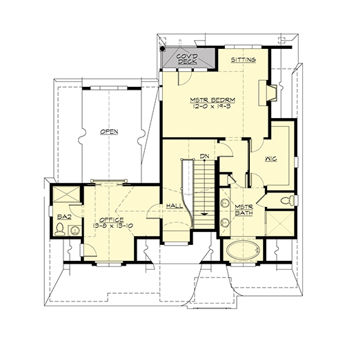Upper Floor image of Featured House Plan: BHG - 4661