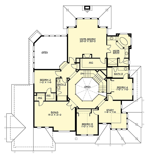 Upper Floor image of Featured House Plan: BHG - 4660