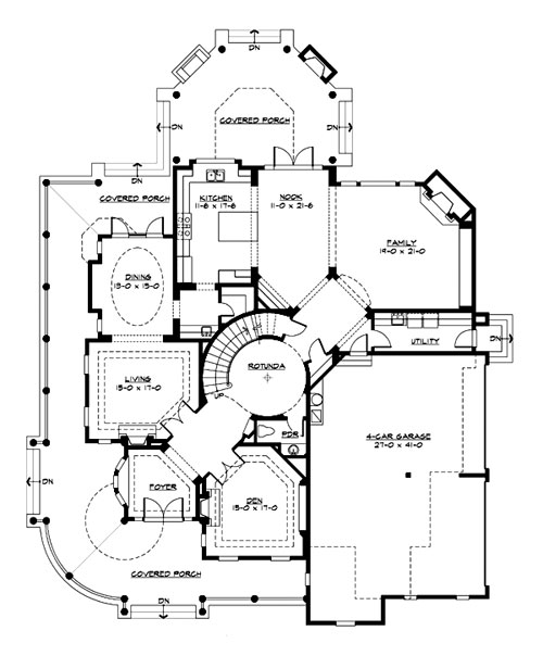 Main Floor image of Featured House Plan: BHG - 3230