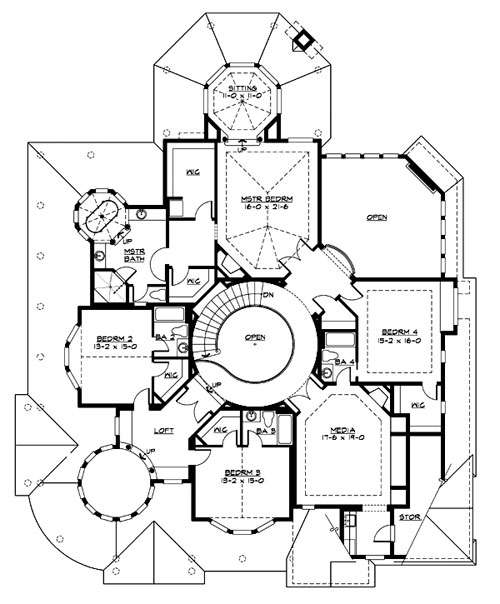 Upper Floor image of Featured House Plan: BHG - 3230
