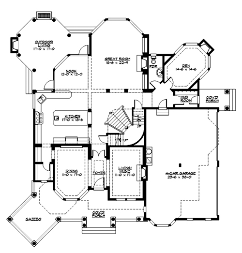 Main Floor image of Featured House Plan: BHG - 3363