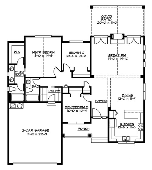 Main Floor image of Featured House Plan: BHG - 3240