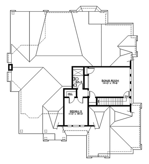 Upper Floor image of Featured House Plan: BHG - 3249