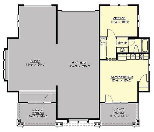 1st Floor Plan image of Featured House Plan: BHG - 3209