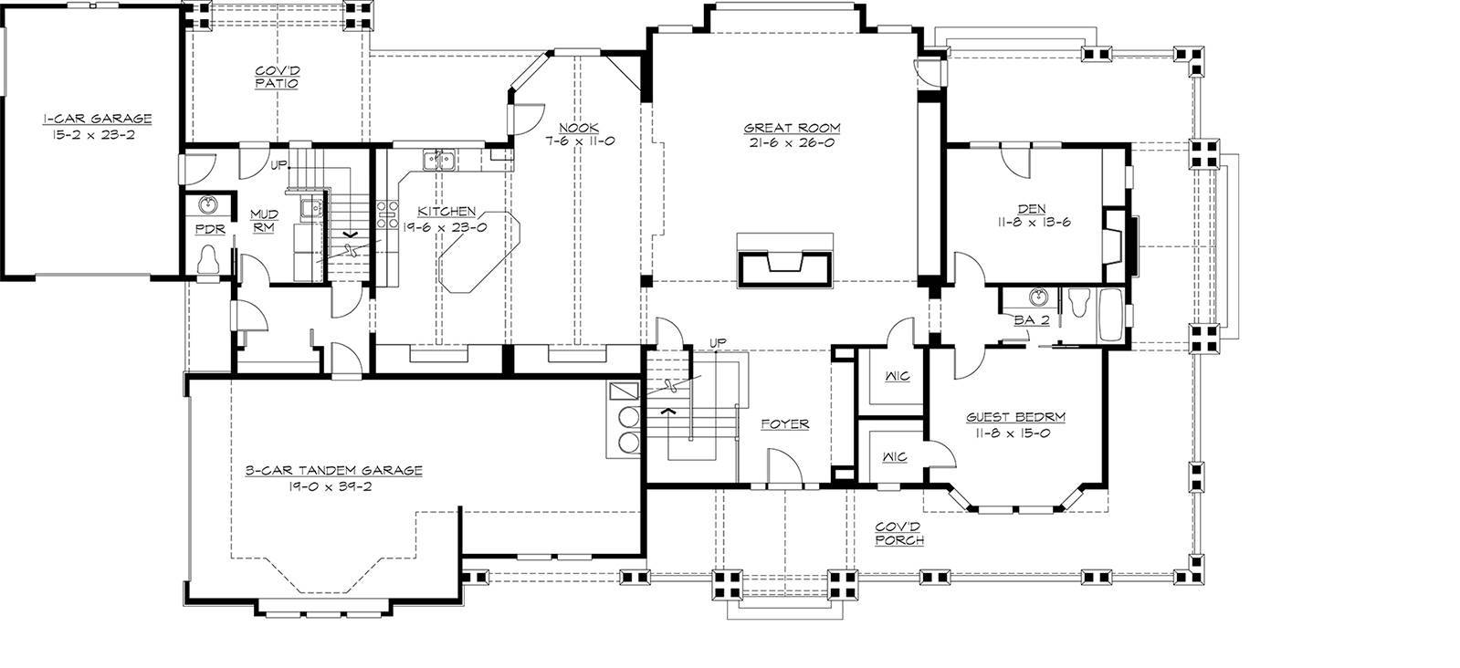 1st Floor image of Featured House Plan: BHG - 3227