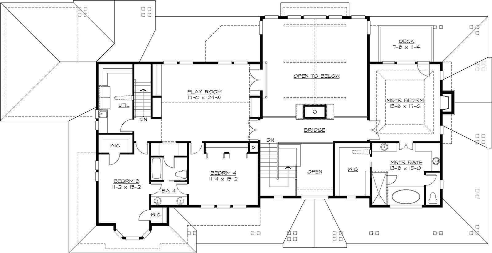 2nd Floor image of Featured House Plan: BHG - 3227